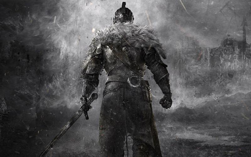 Knight Medieval Sword Dark Souls fantasy wallpaper