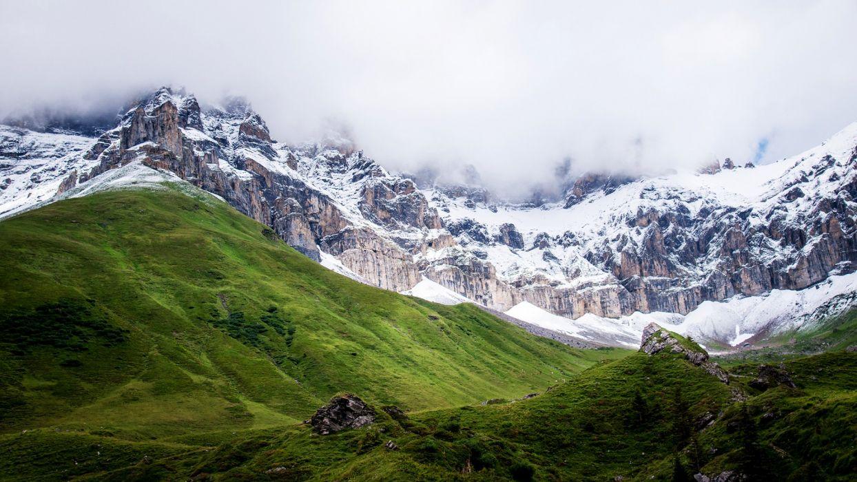 Landscapes Mountains Snow wallpaper