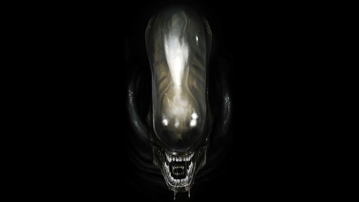 Minimalism  Alien  Black Style  Art  Science Fiction  Film sci-fi sci monster monsters wallpaper