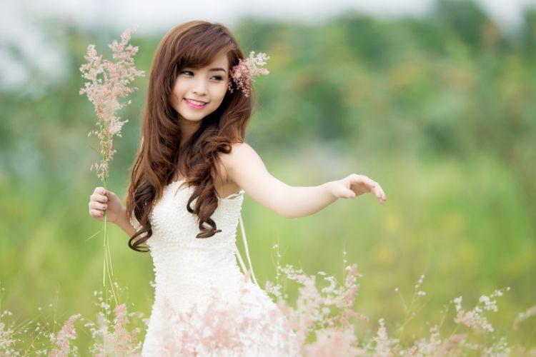 Nana Xinh girl nature summer asian mood girls wallpaper