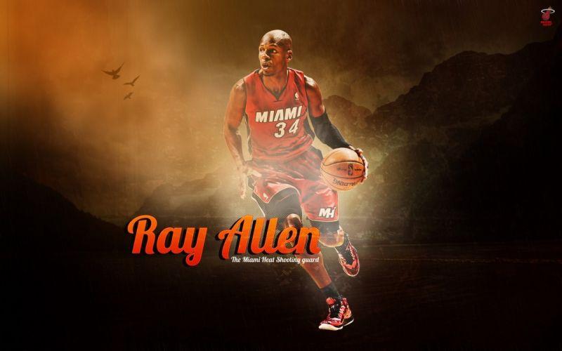 nba player sport ray allen basketball miami heat wallpaper