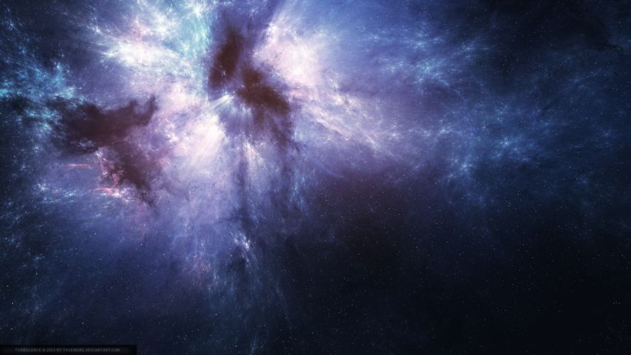 Nebula Stars Purple wallpaper