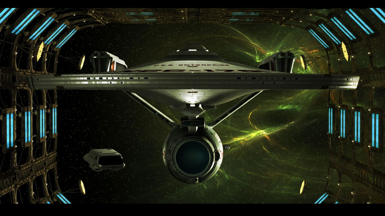 Star Trek Starship Enterprise Spaceship Space Dock wallpaper