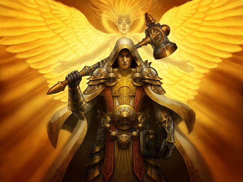 Warriors Angels Armor Wings Fantasy warrior angel wallpaper
