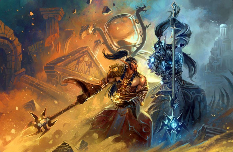 World of WarCraft WoW Warriors Man Warrior fantasy battle battles wallpaper