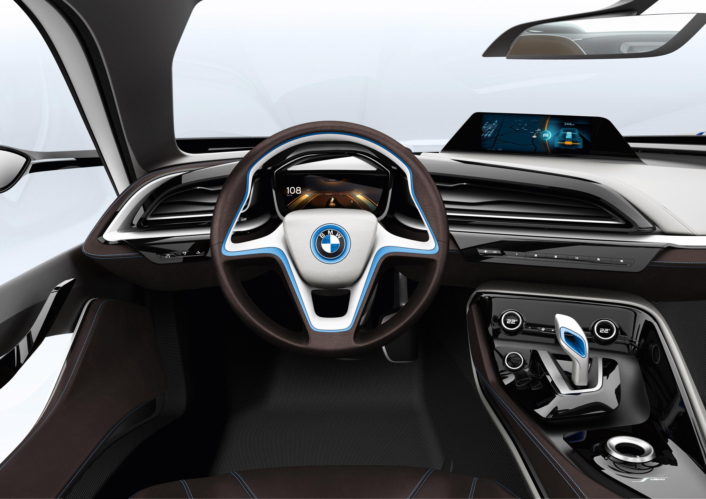 Bmw I Concept Supercar Supercars Interior Steering Dash