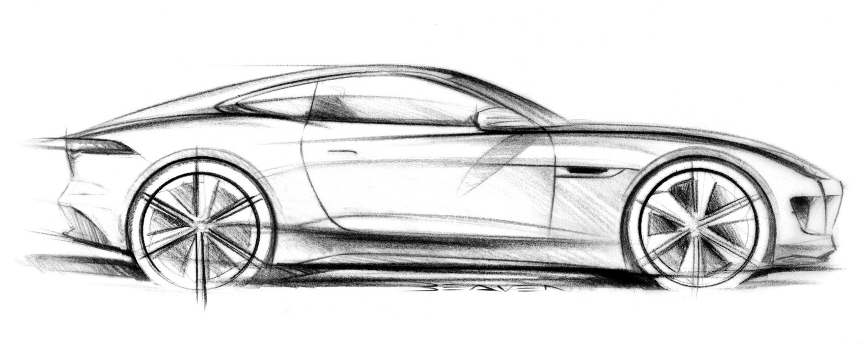2011 Jaguar C-X16 concept supercar supercars drawing sketch pencil art q wallpaper