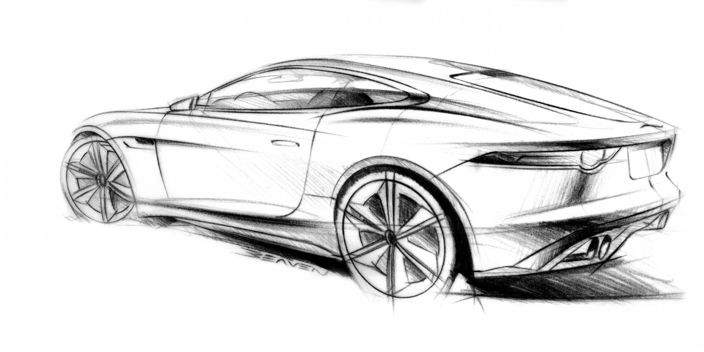 2011 Jaguar C-X16 concept supercar supercars drawing sketch pencil art w wallpaper