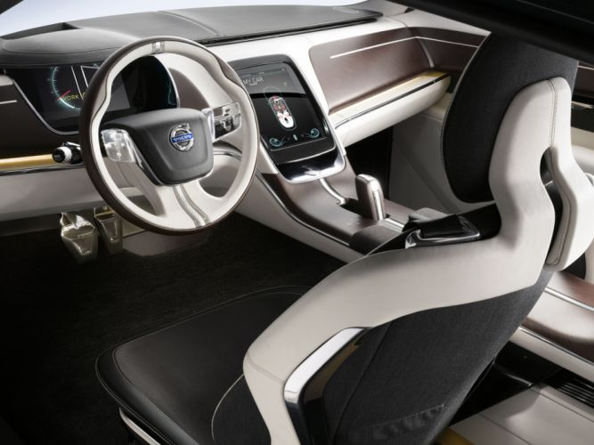 2011 Volvo You Concept interior dash steering wallpaper