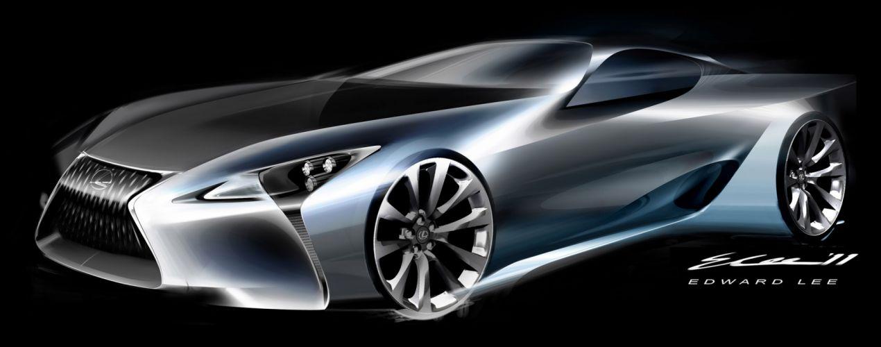 2012 Lexus LF-LC Sport Coupe Concept supercar supercars v wallpaper