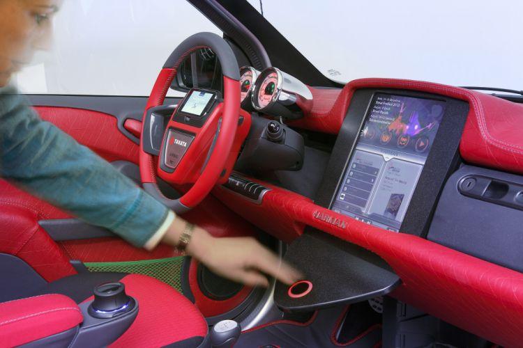 2012 Rinspeed Dock-Go mobility concept interior dash steering a wallpaper
