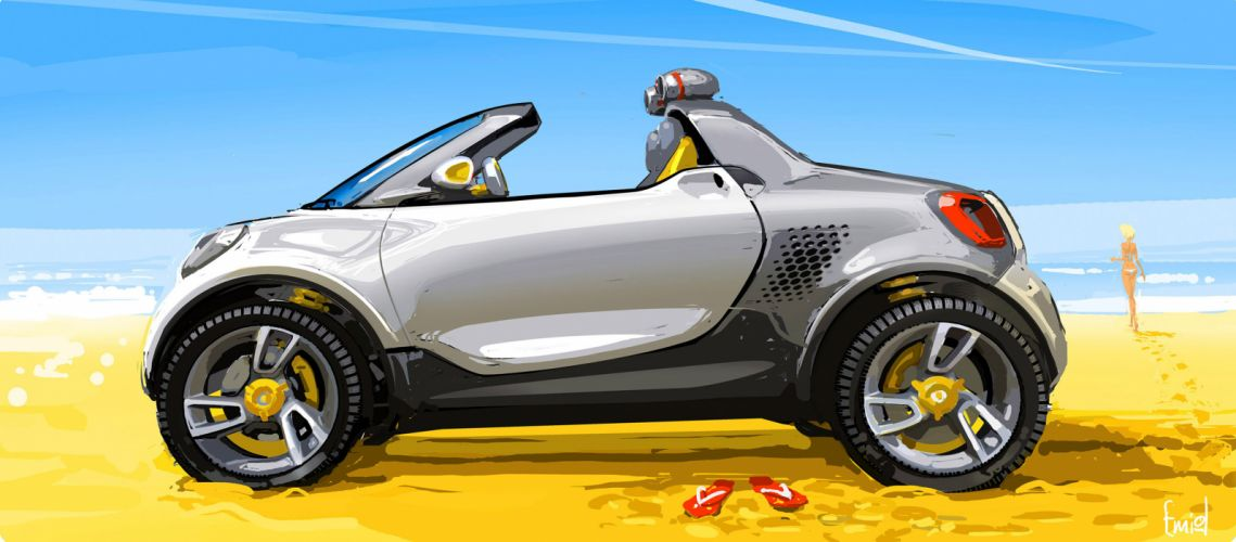 2012 Smart For-Us Concept a wallpaper