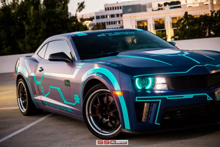 2013 SS-Customs Chevrolet Camaro tuning muscle tron movies sci-fi science sci a wallpaper