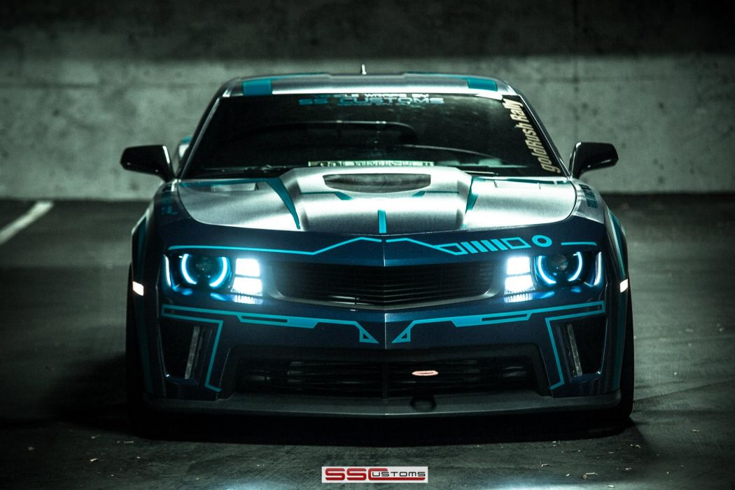 2013 SS-Customs Chevrolet Camaro tuning muscle tron movies sci-fi science sci wallpaper
