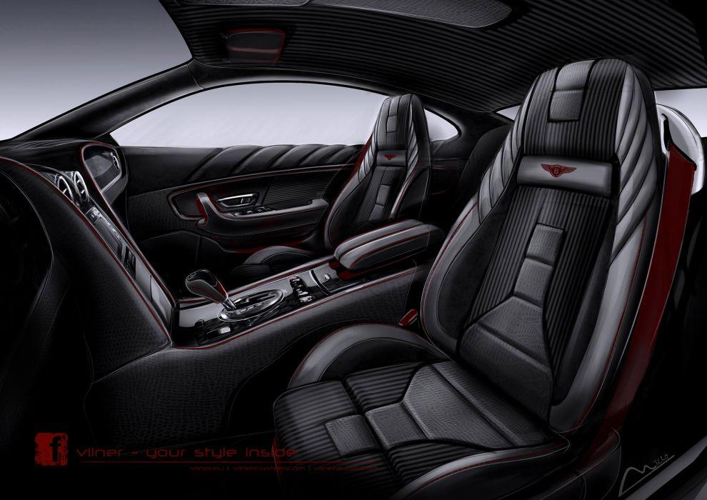 2013 Vilner Bentley Continental GT Design Project tuning interior wallpaper