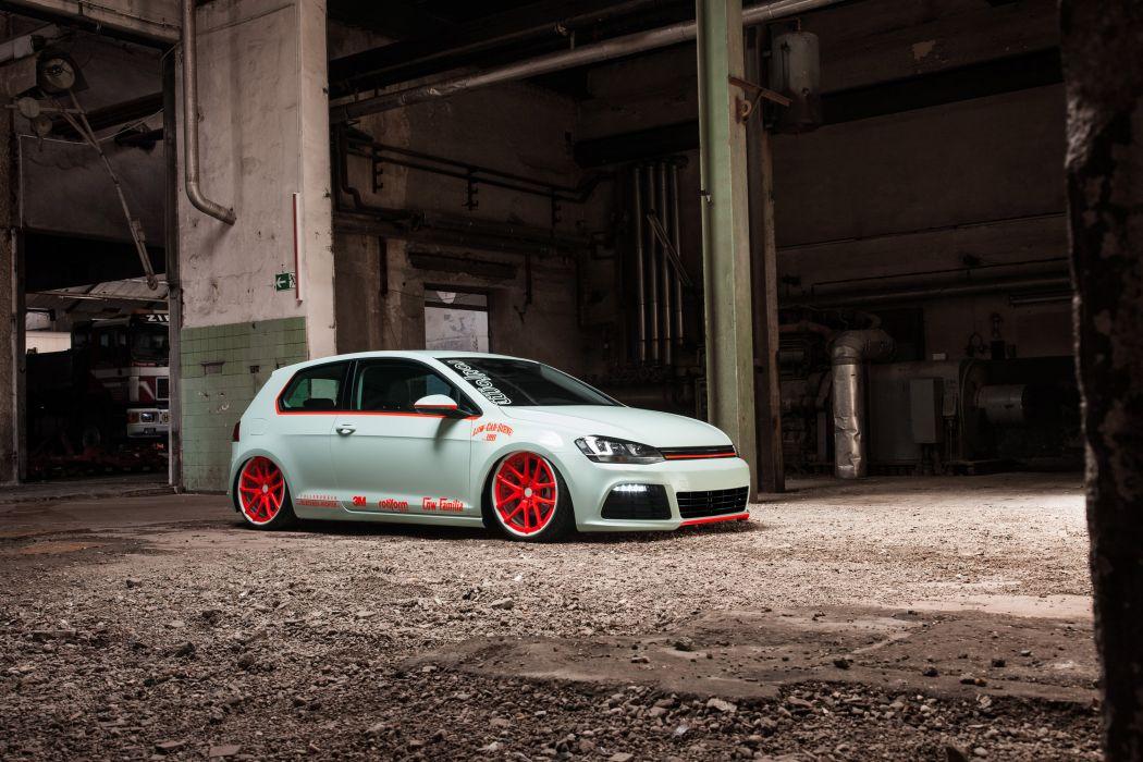 2013 Volkswagen Golf Vii Light Tron Tuning E Wallpaper