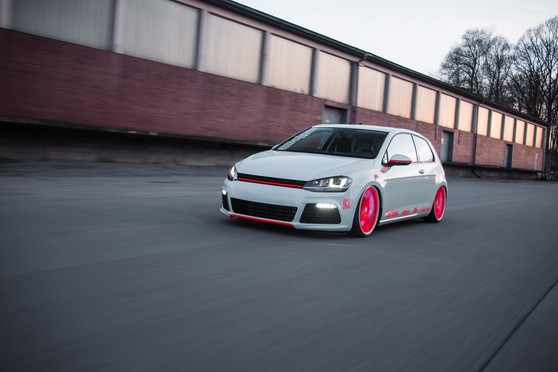 2013 Volkswagen Golf Vii Light Tron Tuning W Wallpaper