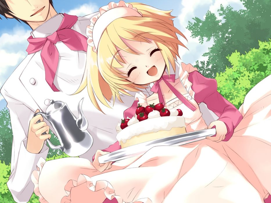 alice parade blonde hair cake maid odoodo funny short hair wallpaper
