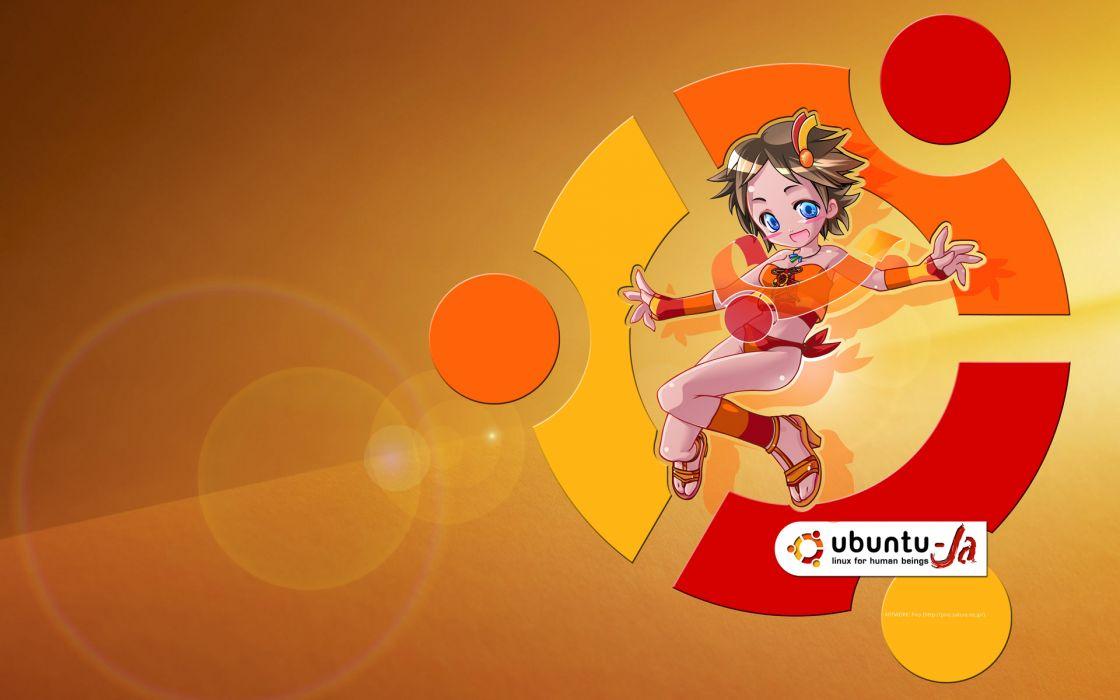 anthropomorphism orange os-tan ubuntu wallpaper