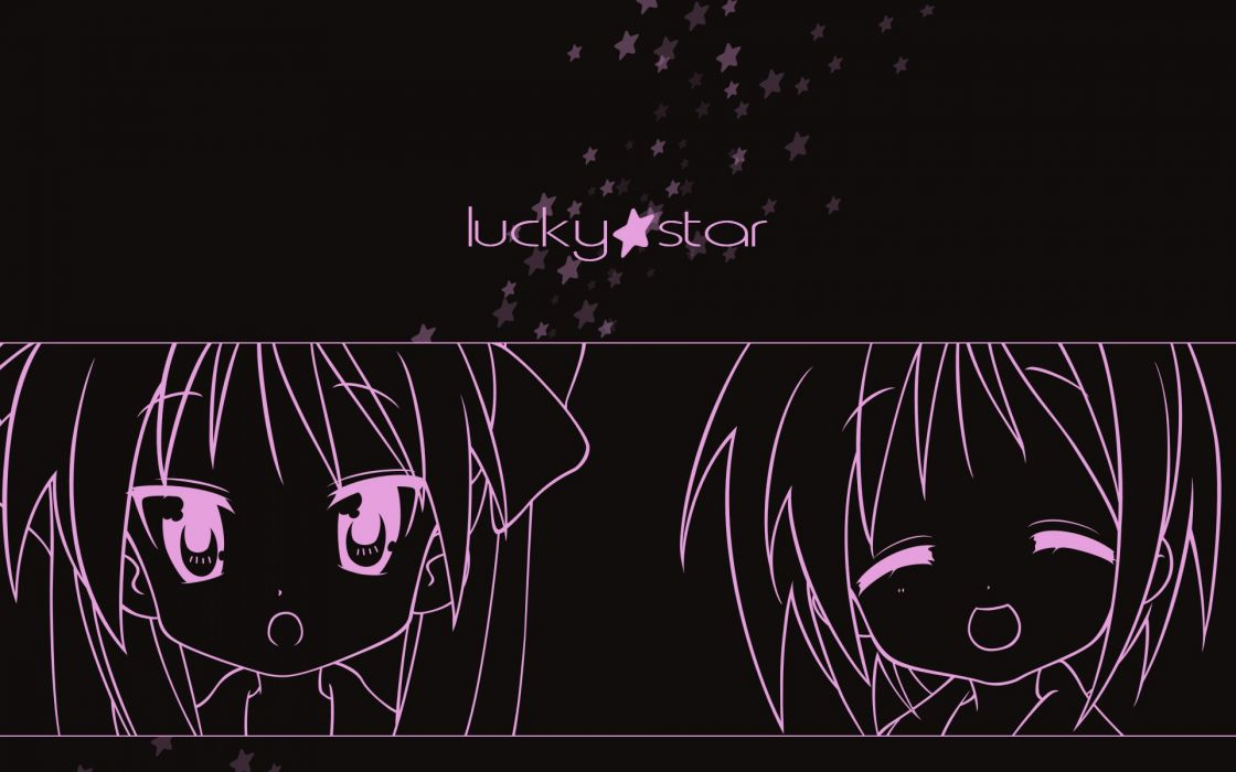 black dark lucky star polychromatic vector wallpaper