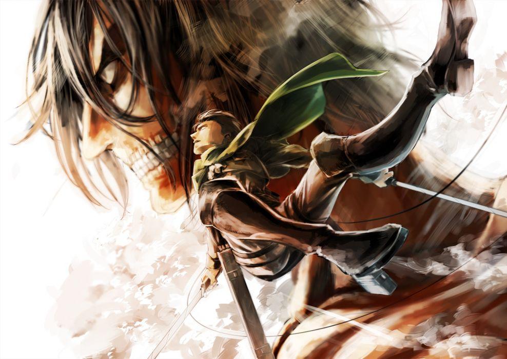 boots otani (gloria) rivaille rogue titan shingeki no kyojin sword weapon wallpaper