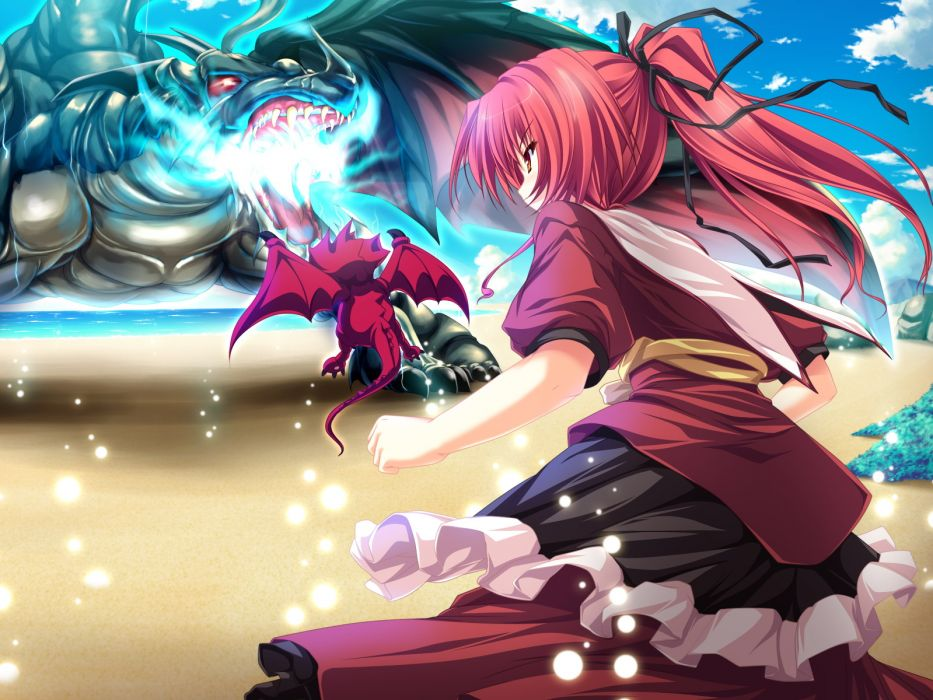 game cg magus tale ponytail red hair seera finis victoria tenmaso b wallpaper
