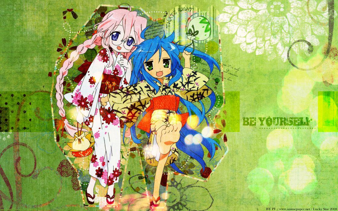 izumi konata lucky star takara miyuki wallpaper