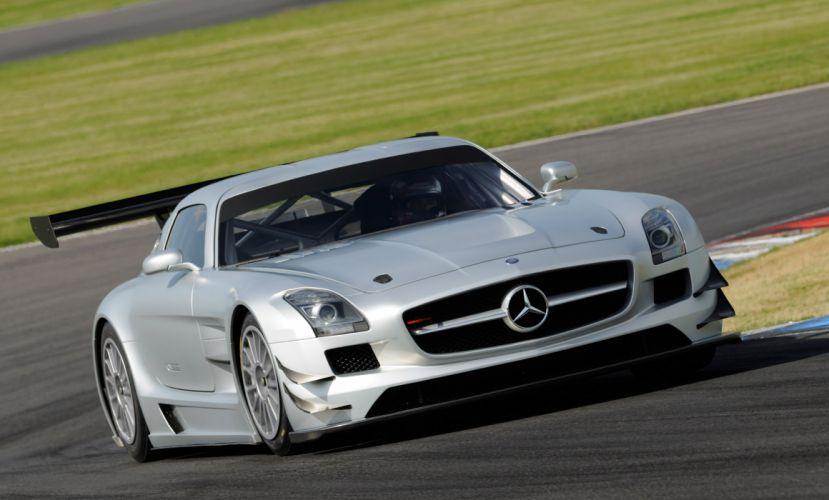 2011 Mercedes Benz SLS AMG GT3 race racing supercar supercars q wallpaper