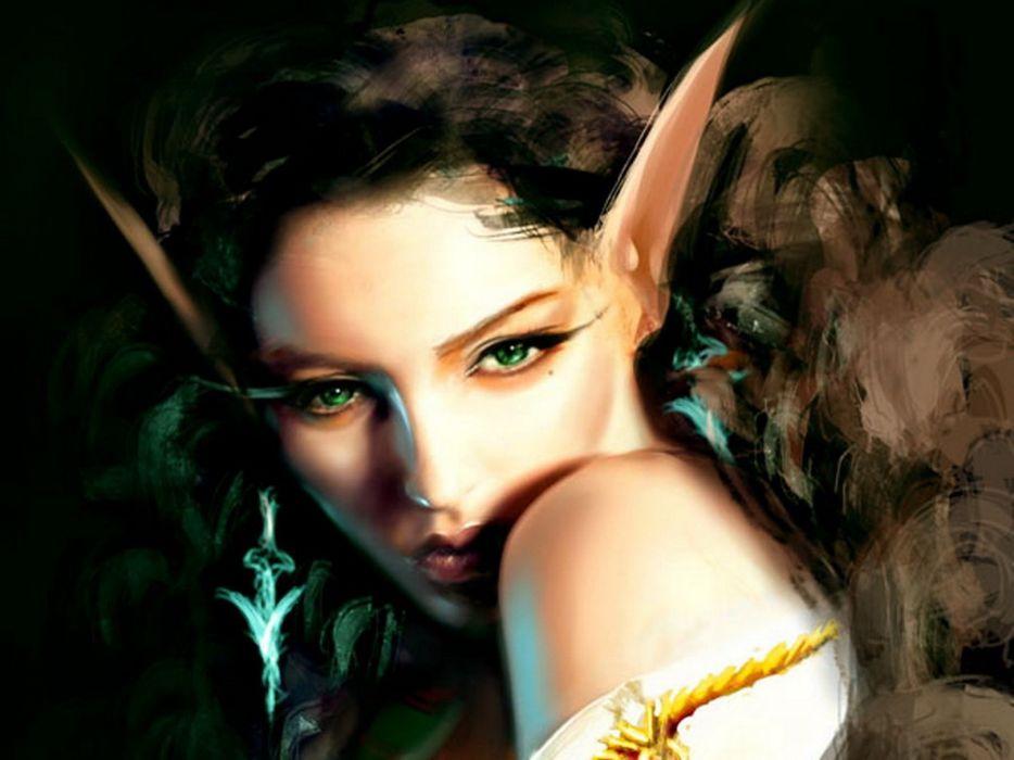 lingerie women abstract fantasy art elves digital art artwork wallpaper