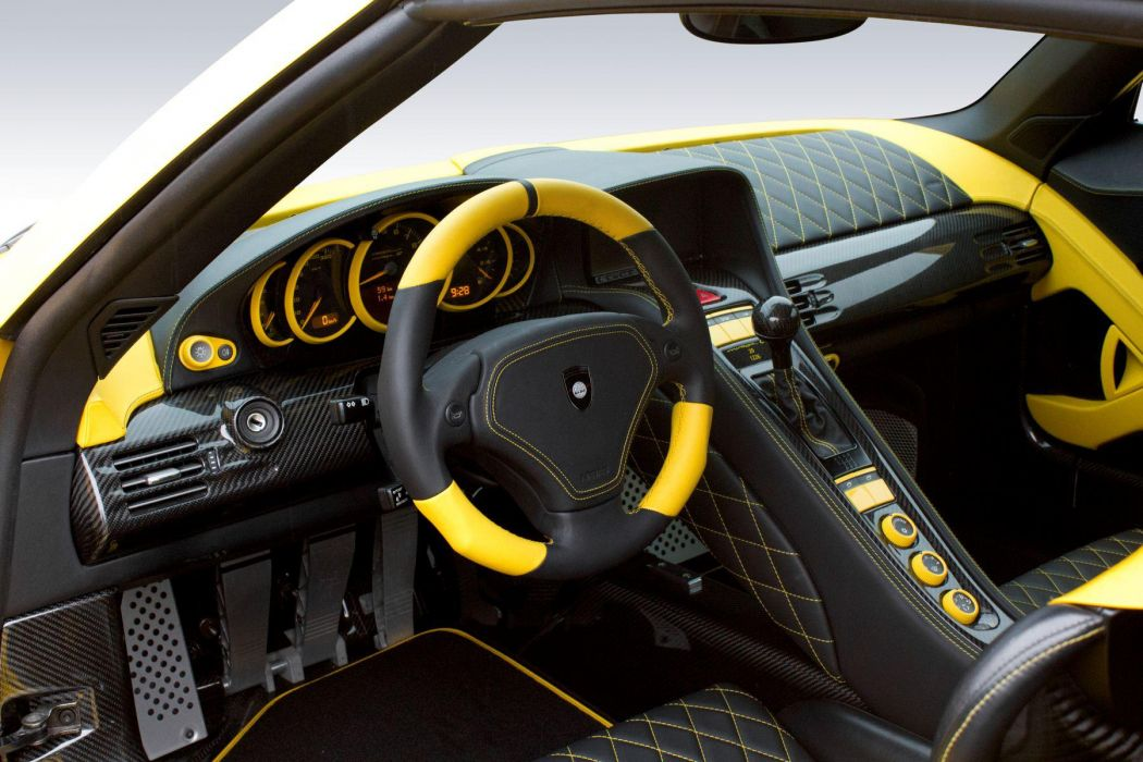 2013 Gemballa Porsche 980 Carrera Mirage GT Black Edition tuning supercar supercars interior steering wallpaper