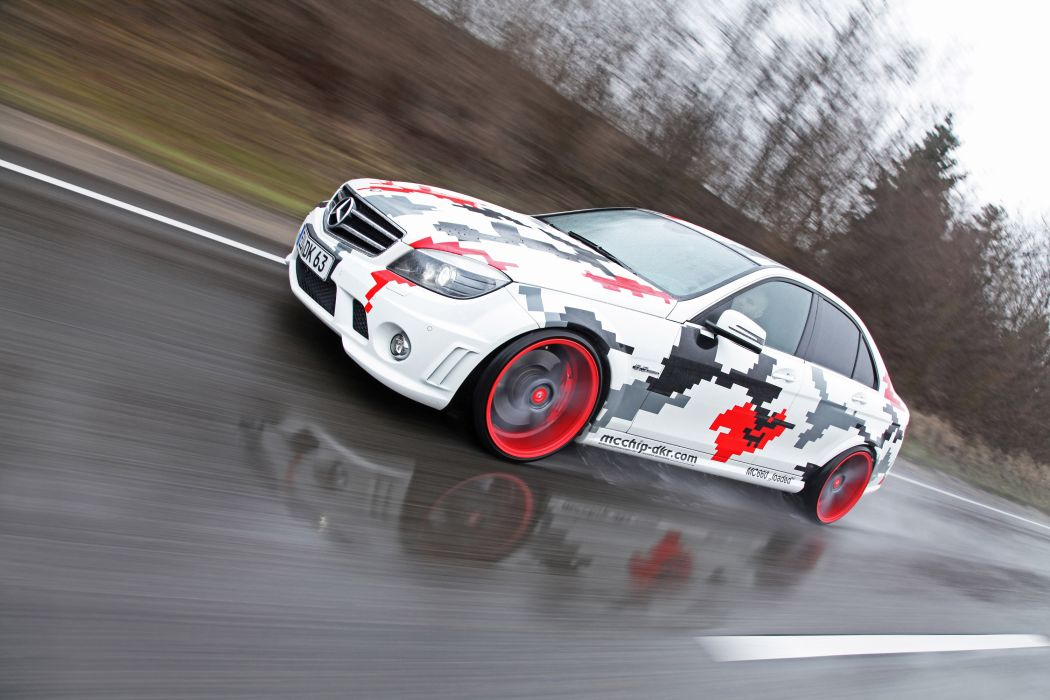 2013 mcchip-dkr Mercedes Benz C63 AMG tuning a wallpaper