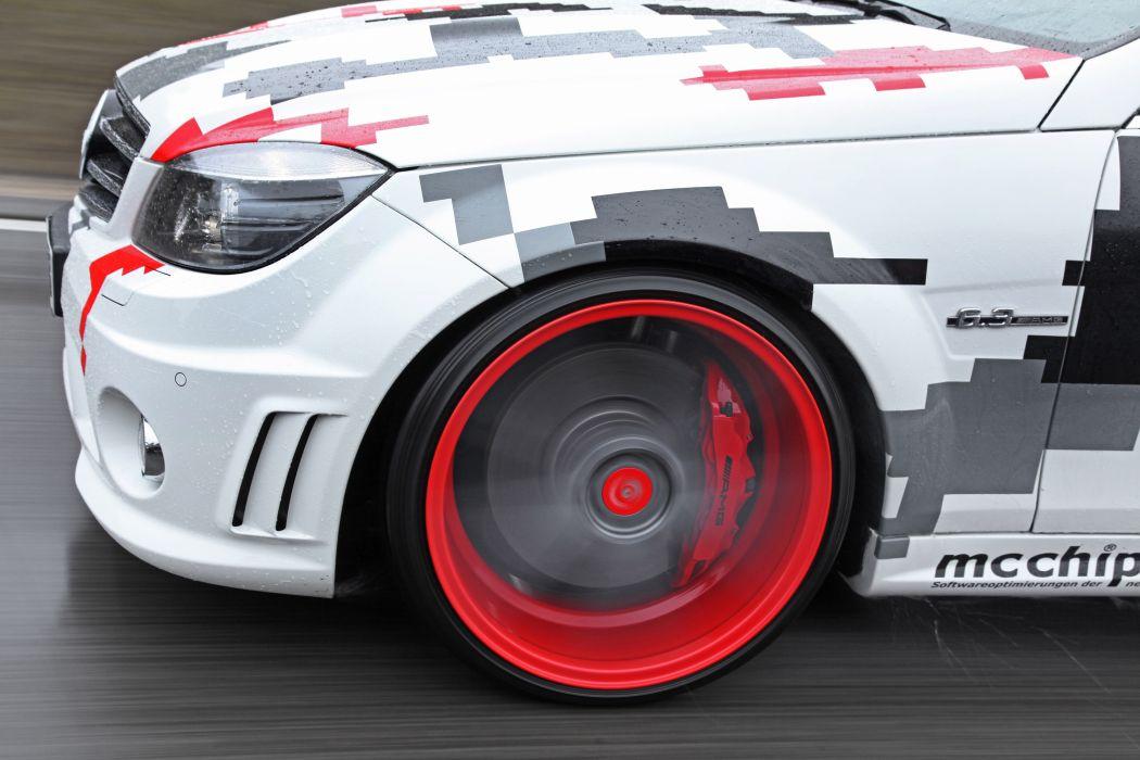 2013 mcchip-dkr Mercedes Benz C63 AMG tuning wheel wheels wallpaper