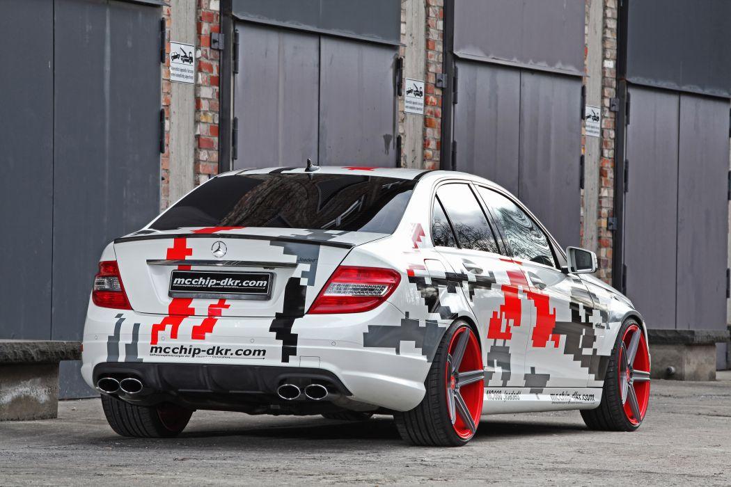 2013 mcchip-dkr Mercedes Benz C63 AMG tuning x wallpaper