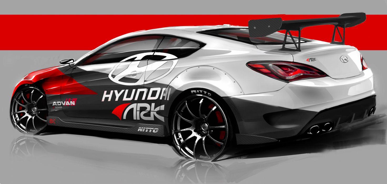 2012 ARK Hyundai Genesis Coupe R-Spec tuning race racing q wallpaper