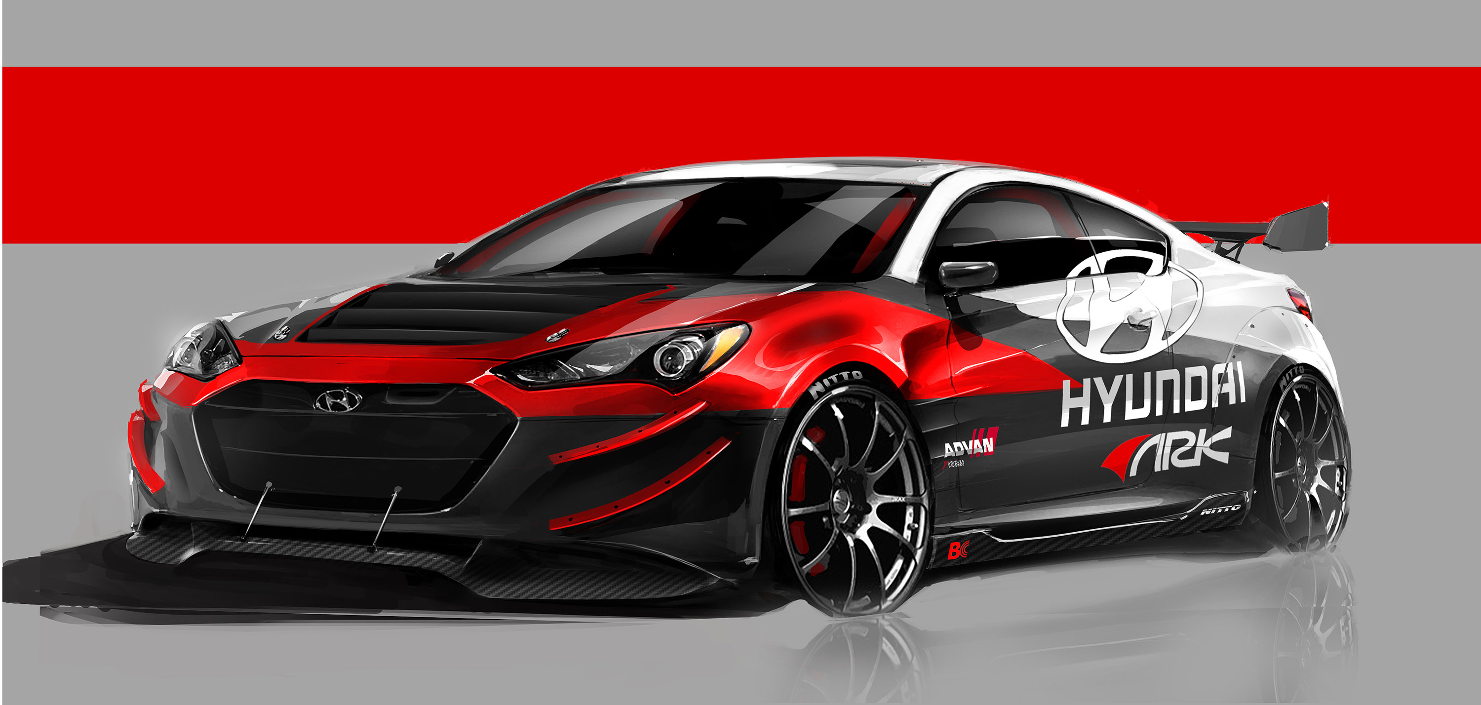 2012 ark hyundai genesis coupe r spec tuning race racing. Black Bedroom Furniture Sets. Home Design Ideas