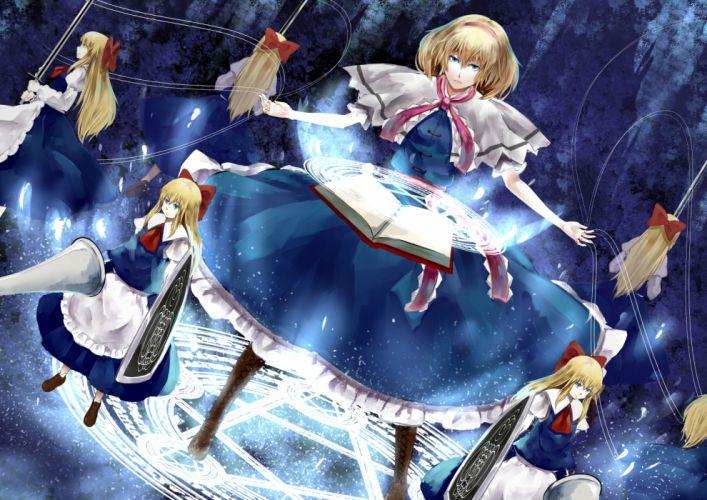 alice margatroid blonde hair blue eyes doll nishiuri shanghai doll touhou wallpaper