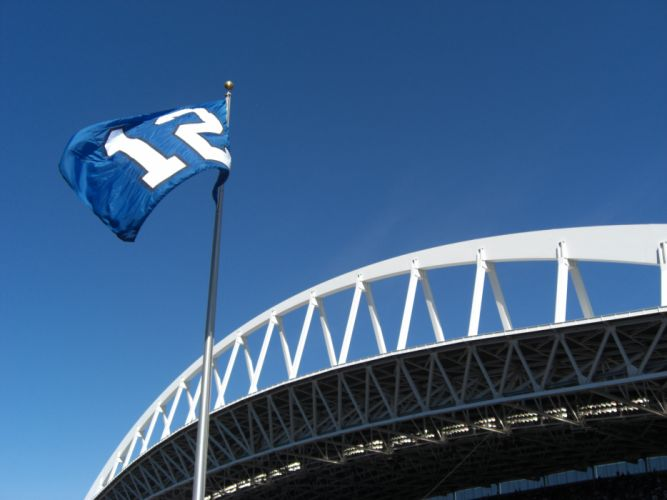 Seattle Seahawks nfl football sport stadium architecture building buildings sport flag flags_JPG wallpaper