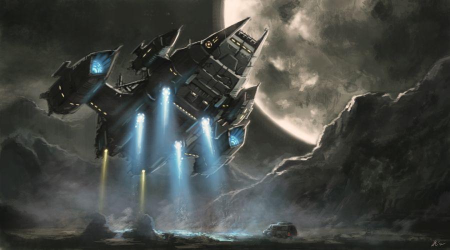 Technics Ships Flight spaceship wallpaper