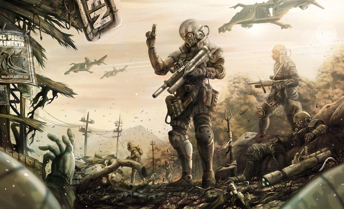 Warriors Technics Armor wallpaper