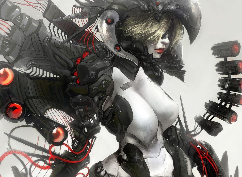 women cyborgs cyberpunk artwork cyborg wallpaper