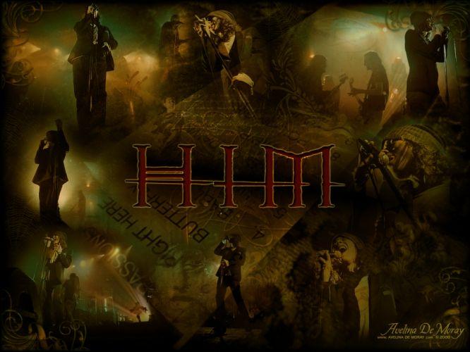 H_I_M His-Infernal-Majesty H-I-M nu-metal metal hard rock ville concert concerts HIM wallpaper