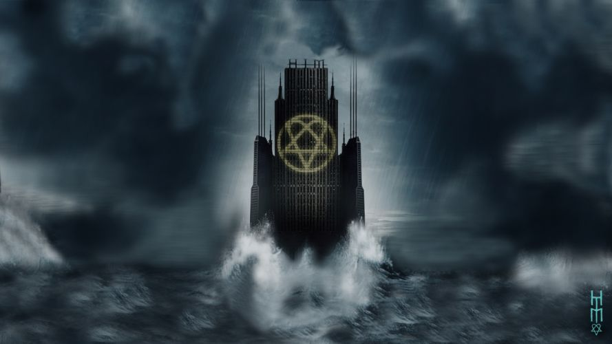H_I_M His-Infernal-Majesty H-I-M nu-metal metal hard rock ville sci-fi ocean apocalyptic HIM wallpaper