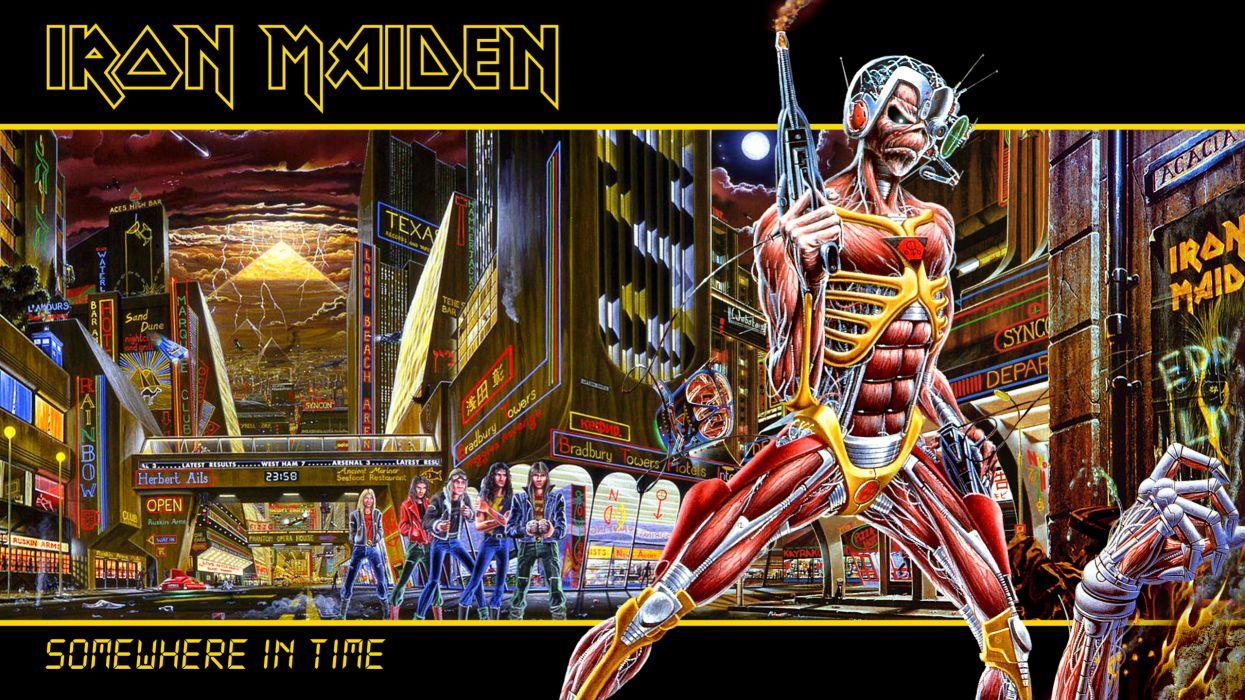 Iron Maiden eddie futuristic sci-fi sci heavy metal wallpaper