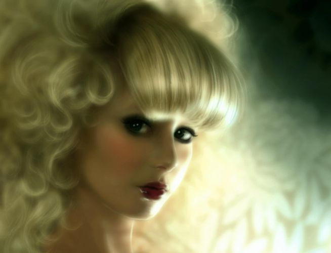 Suzanne-van-Pelt Fantasy women blonde face eyes mood wallpaper