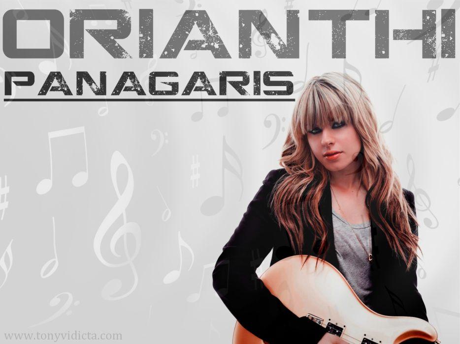 Orianthi Panagaris guitarist rock women females girl girls musician pop blonde blondes guitar guitars  x wallpaper