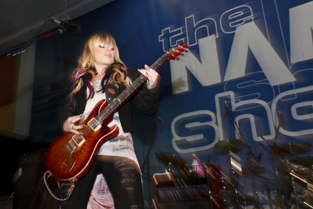 Orianthi Panagaris guitarist rock women females girl girls musician pop blonde blondes guitar guitars concert concerts    c wallpaper