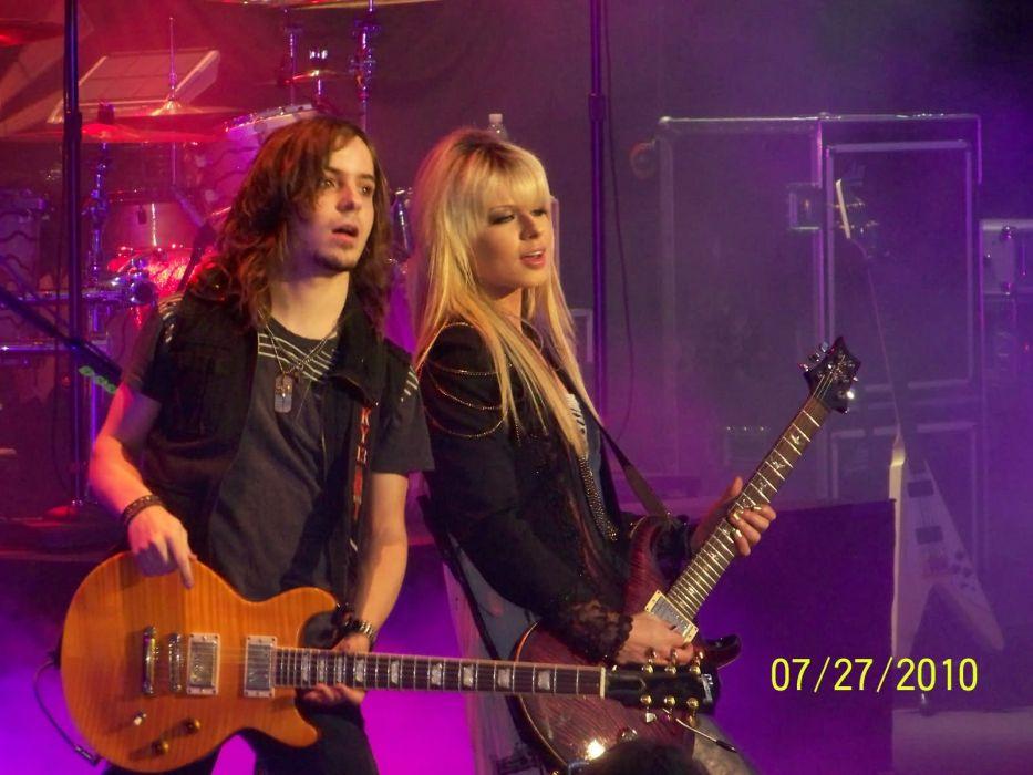 Orianthi Panagaris guitarist rock women females girl girls musician pop blonde blondes guitar guitars concert concerts   z wallpaper