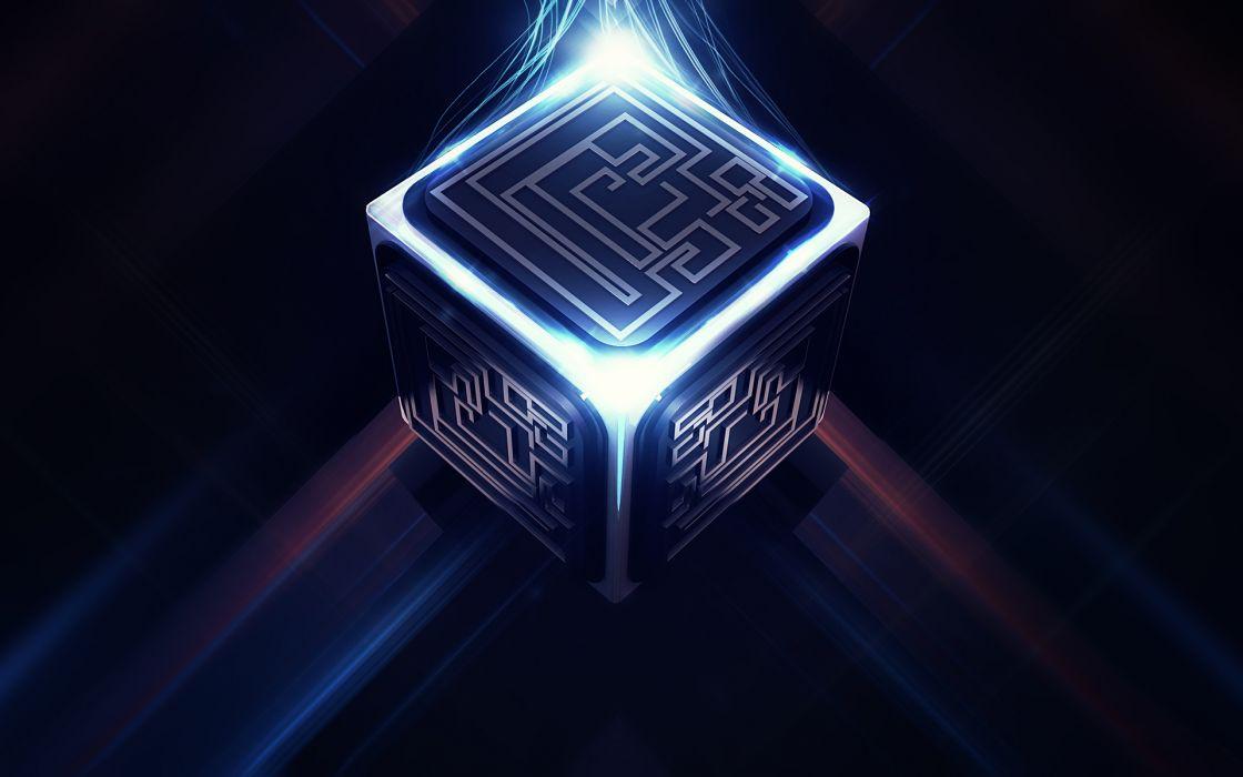 cube pattern tech circuit wallpaper
