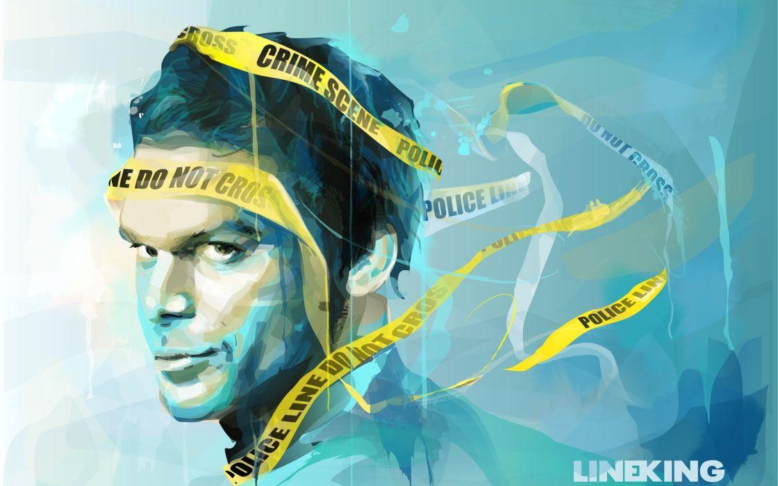 dexter danger tape crime crimetape actors wallpaper