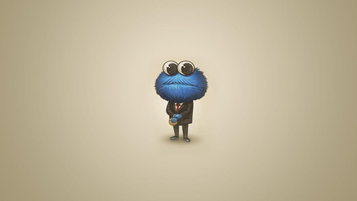Sesame Street Cookie Monster Humor Funny Cute Wallpaper